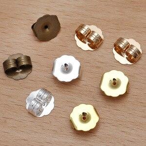 200 peças/lote 9mm cobre brinco de volta orelha plugue do parafuso prisioneiro brincos base diy jóias fazendo