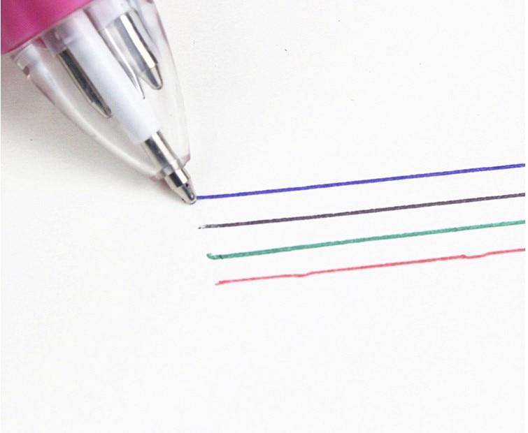 1 шт 4 цветная шариковая ручка мультфильм Аниме Манга милый