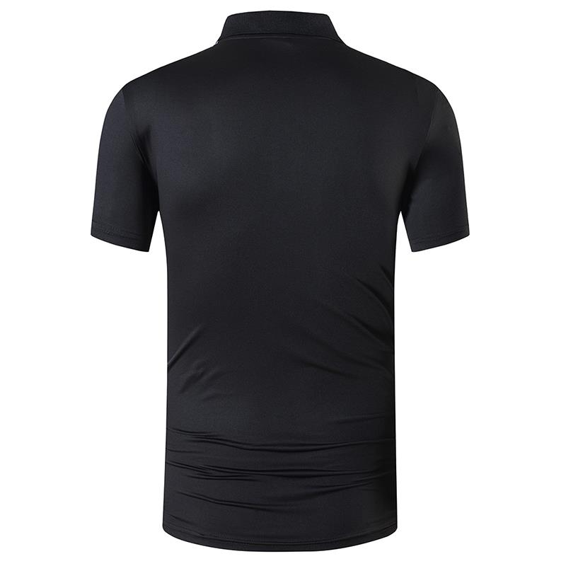 jeansian Men 39 s Sport Tee Polo Shirts POLOS Poloshirts Golf Tennis Badminton Dry Fit Short Sleeve LSL267 Black in Polo from Men 39 s Clothing