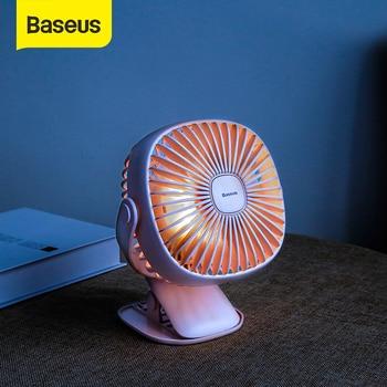 Baseus 미니 USB 충전식 공기 냉각 팬 클립 책상 팬 이중 사용 가정 학생 기숙사 침대 옆 휴대용 탁상용 사무실 팬