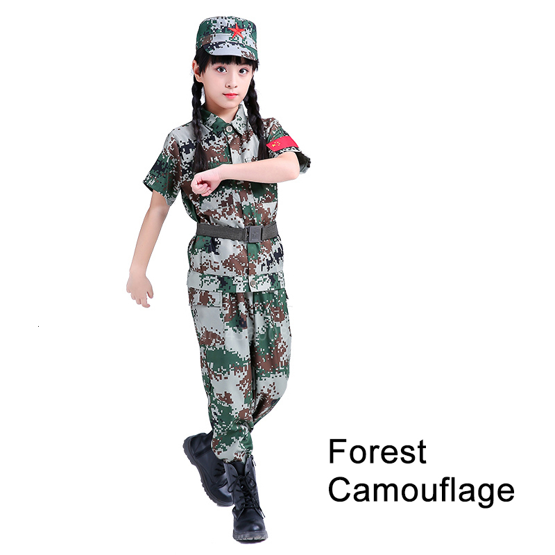 Children Camouflage Tactical Uniforms Hunting Set Men Military Clothing Combat Jackets Pants Kids Army Clothes Cosplay Costumes - Цвет: Style7