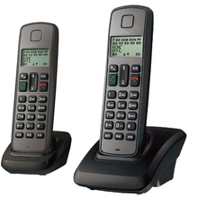 Expandable Cordless Phone System with Caller ID, LCD Backlit, 2 Cordless Handsets, 16 Languages, Keypad Lock for Home Office