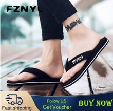 FZNYL Non-slip Rubber Men Women Slippers Beach Flip Flops Sweat Absorption Summer Indoor Home House Sandals Shoes Plus Size 49 цена 2017