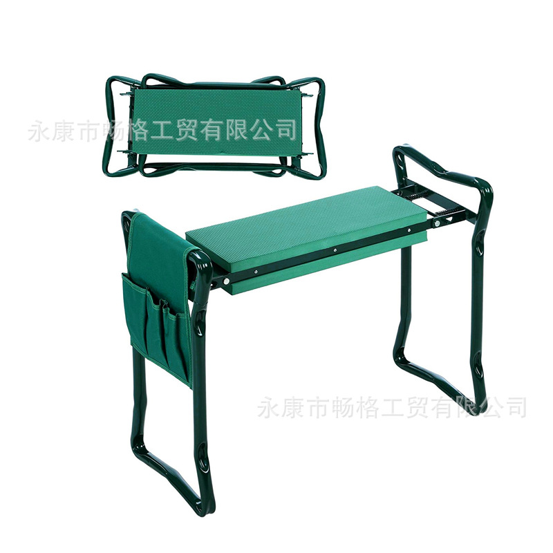 Folding Garden Kneeler with Handles Stainless Steel Garden Stool with EVA Kneeling Pad and Storage Bag  Gardening Gifts Supply