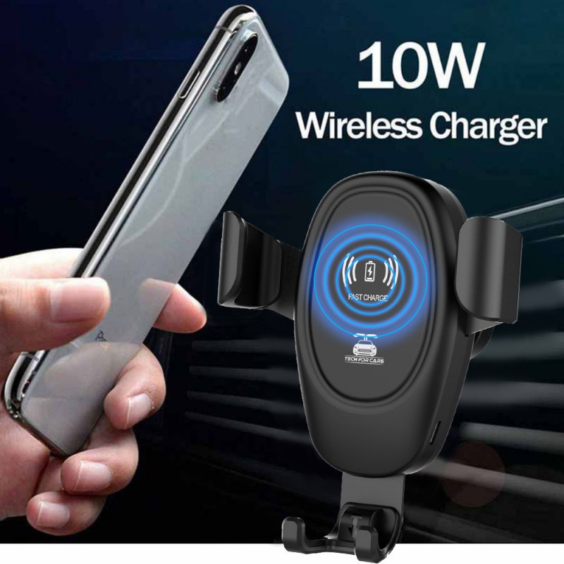 10W QI chargeur rapide sans fil support socle voiture support pour iPhone XS Max Samsung S9 pour Xiaomi MIX 2S Huawei Mate 20 Pro image