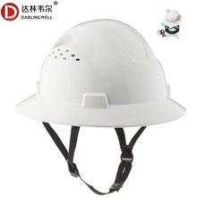 Capacete de segurança respirável de alta resistência de pouco peso do capacete da segurança do verão do chapéu duro da borda completa