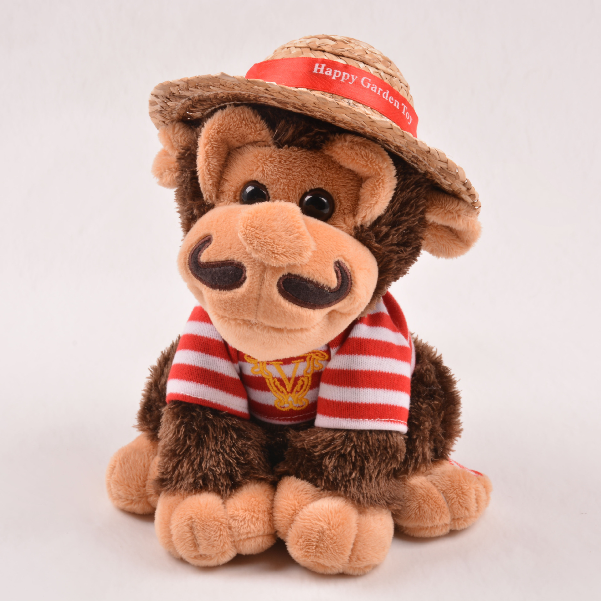 Electric Walking Music Voice Interactive Educational Can Straw Hat Monkey Electric CHILDREN'S Toy