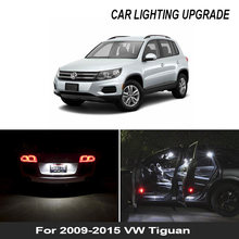13x led lâmpada da placa de licença + footwell luzes para 2009-2015 tiguan led interior dome mapa leitura tronco lâmpada kit completo