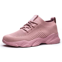 Fashionable Female Sports Shoes Outdoor Running Flat Bottom Breathable Flying Woven Non-slip sapatos das mulheres кроссовки