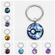Pikachu Pokemon Pokeball Key Chain Go Keychain Mega Creative Chaveiro Friendship Gift Vaporeon Vulpix Dome Absol