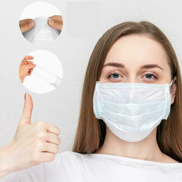 10/20/50Pcs Disposable Earloop Flu Face Mask LEVEL 3 Ply Disposable Anti-Bacteria Ear Loop Mouth Masks Facial Protective Mask 2