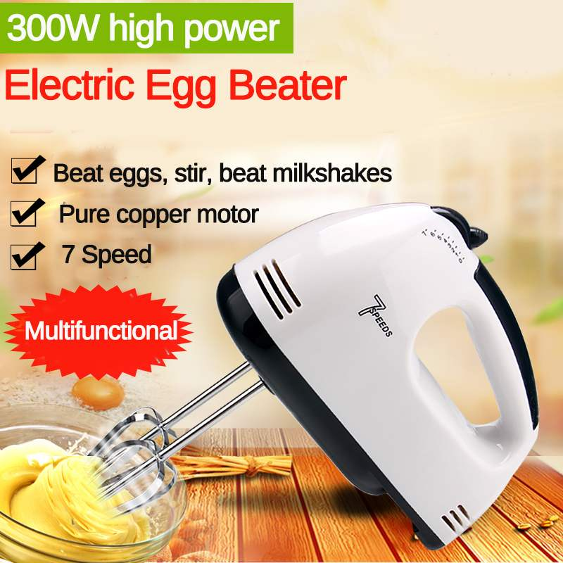 7 Speed Manual Mini Dough Hand Mixer Food-Blender Handheld Multifunctional Food Processor Automatic Electric Kitchen Mixer Tools