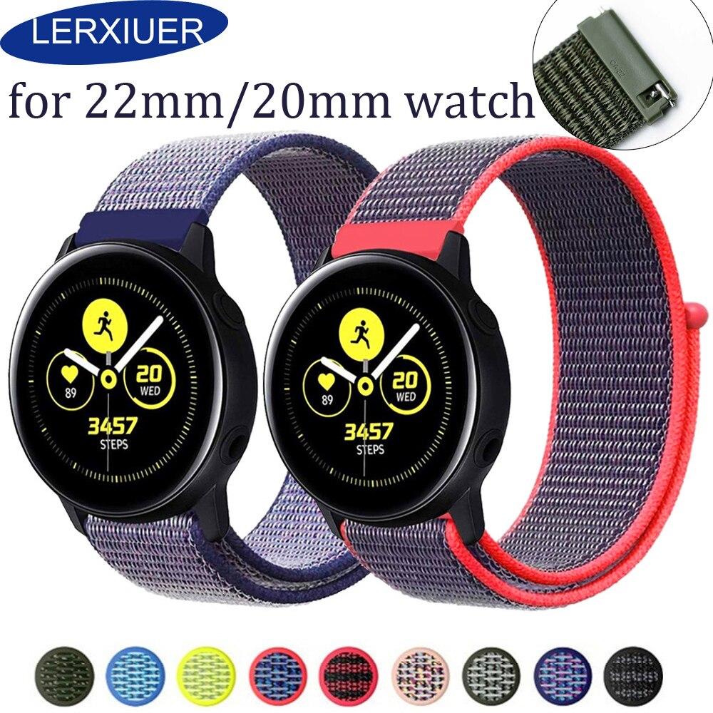 Gear S3 Frontie Strap For Samsung Galaxy Watch 46mm Active 42mm Huawei Watch Gt Amazfit Bip Nato Strap 22mm Watch Band Bracelet