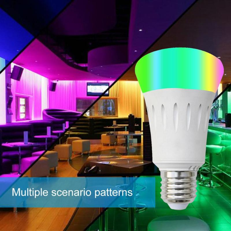 RGB Full Color Smart Bulb Energy Saving E27 LED Dimmable Compatible APP Voice Remote Control with Profile Lighting