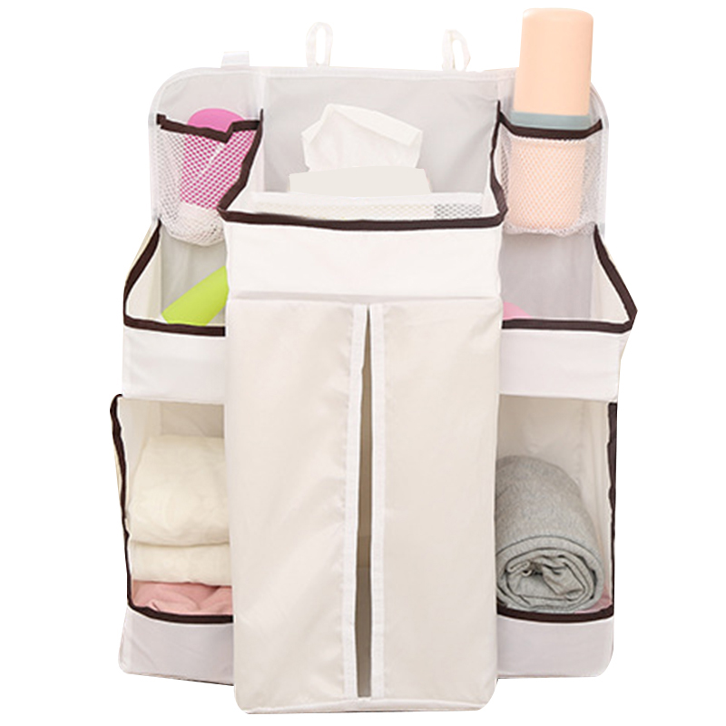 Multipurpose Crib Baby Bed Hanging Bag Portable Diapers Bedside Organizer Cradle Bag Bedding Accessories
