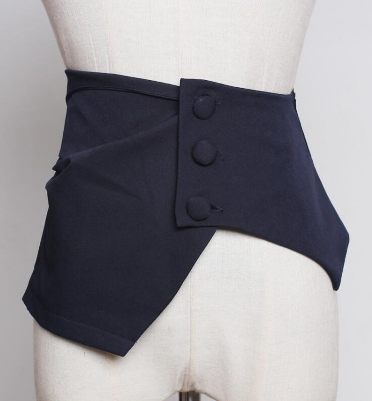 Women's Runway Fashion Chiffon Cummerbunds Female Dress Coat Corsets Waistband Belts Decoration Wide Belt R1750