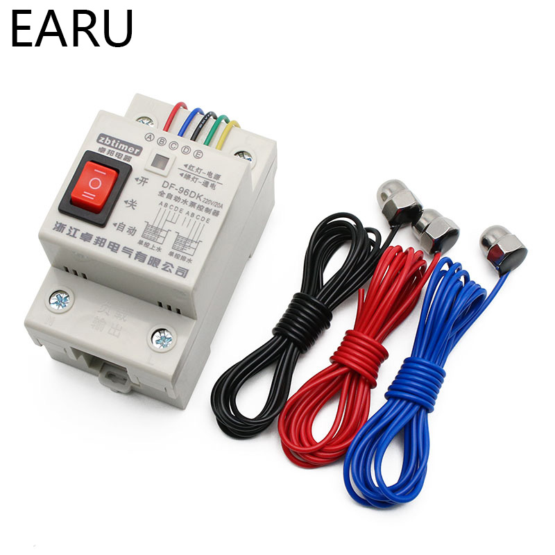DF-96DK Automatic Water Level Controller Switch 10A 220V Tank Liquid Level Detection Sensor Porbe Water Pump Controller Control