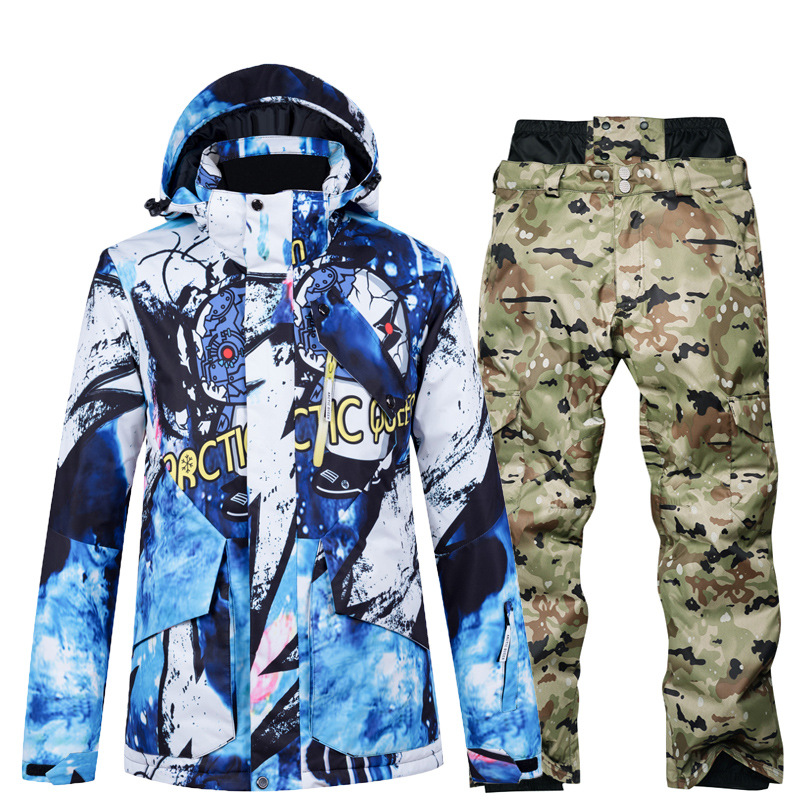 New Men Ski Jacket Winter Snowboard Suit Men's Outdoor Sport Warm Waterproof Windproof Breathable Clothes Hooded Ski Coat