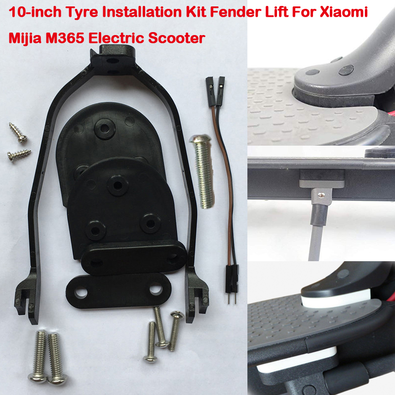 Electric Scooter 10-inch Tyre Kit Rear Fender Foot Spacer bracket Taillight Exten Cable For Xiaomi M365/ 187 / Pro E-bike Parts