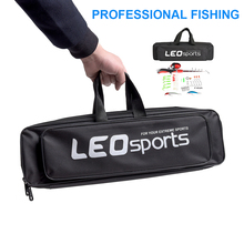 50CM Fishing Bags 2 Layer Portable Multifunction Canvas Fishing Rod Bag