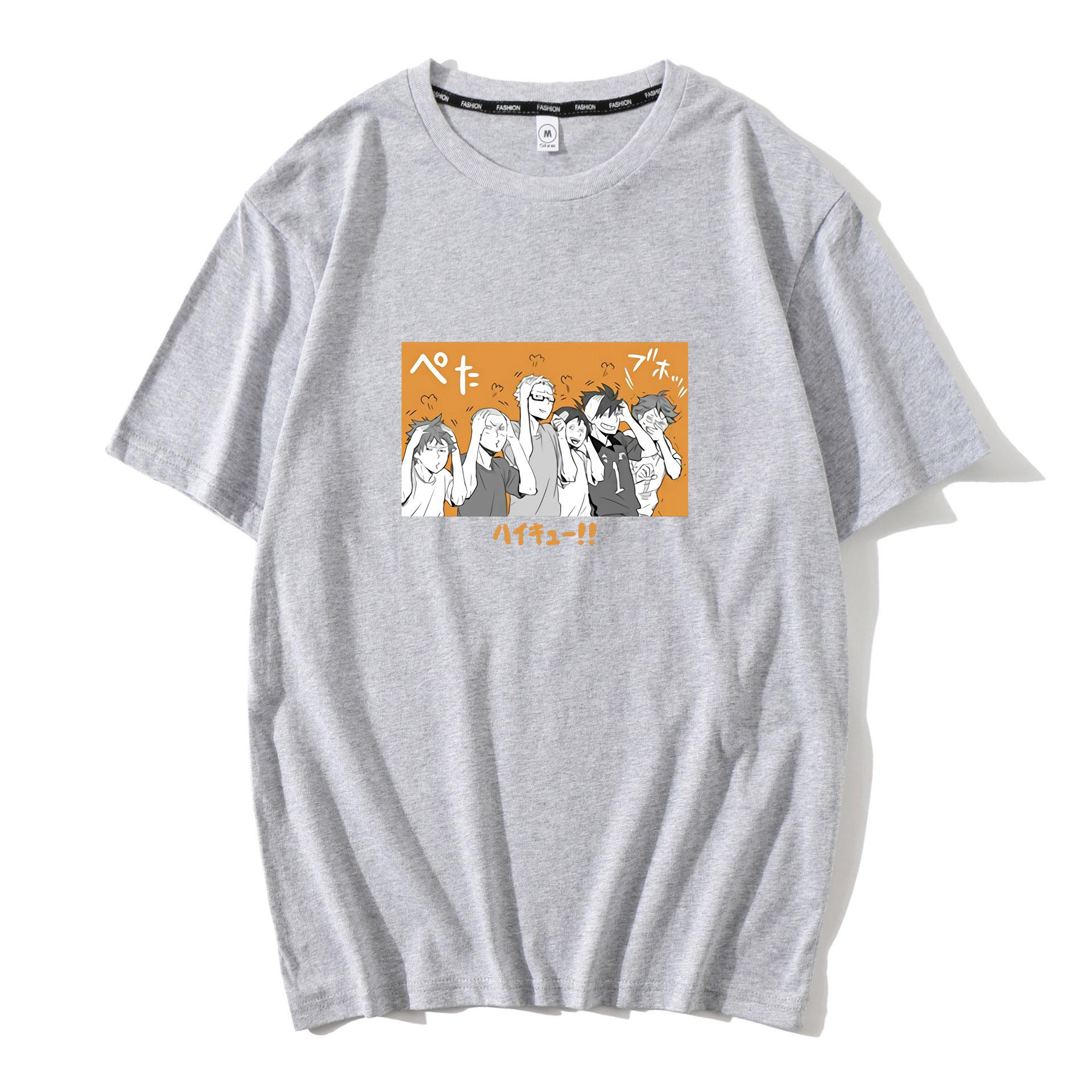 Аниме haikyuu nekoma karasuno футболка с коротким рукавом kageyama
