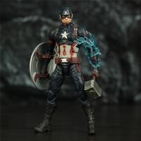 Avengers Endgame Captain America Unmasked with Mjolnir 6inch. 4
