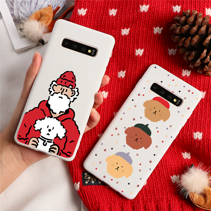 Christmas Santa Claus For Samsung Galaxy S10 S8 S9 Plus Note 8 9 10 Pro M30 M20 A50 A40 A70 A10 A10E A20 A20E A30 A60 TPU Case image
