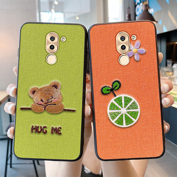 Перейти на Алиэкспресс и купить Роскошный вышитый чехол для телефона Huawei Honor 6X 20 Lite V8 V9 7X 9 20 10 8 9x pro play 3 magic 2 3D Модный мягкий силиконовый чехол