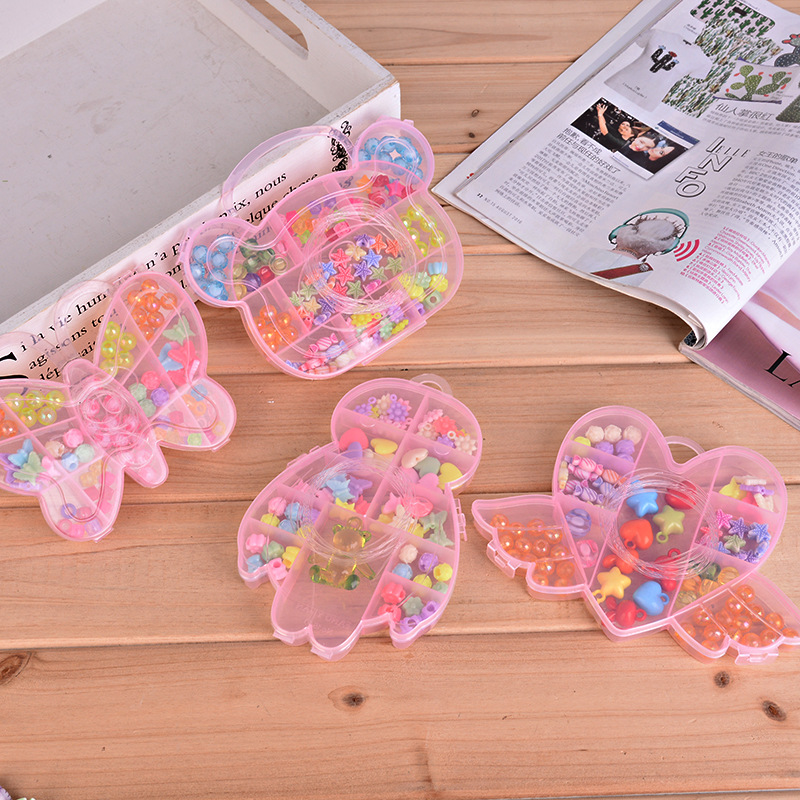 DIY Children Handmade Beading Bracelet Necklace Ornament Combination Set Children'S Educational Toy Girls Beaded Bracelet Batch