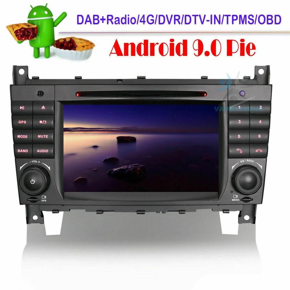 Android 10 Autoradio GPS Navi WiFi DAB Für Mercedes Benz CLK-W203 CLC C55 W220