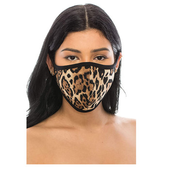 1PC Brown Leopard Mask Face Cover Kpop Unisex Cotton Facemask Breathable Washable Mouth-muffle Riding Scarves Dropshipping