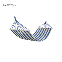 Outdoor Camping Garden Beach Travel Canvas Hammock Portable Ultralight With Wooden Stick Anti-rollover Hammock