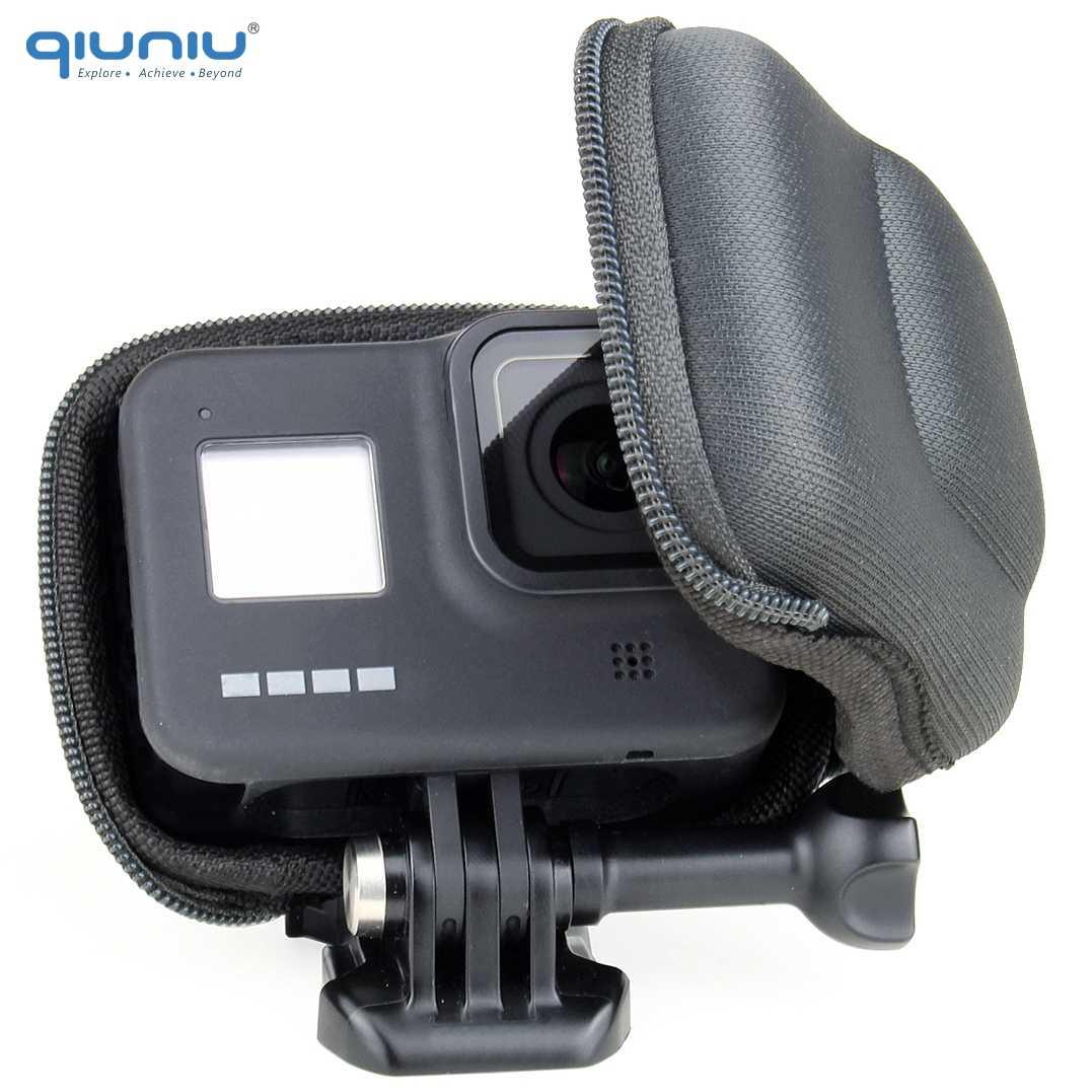 QIUNIU dla GoPro Hero 8 czarny Mini kompaktowy futerał na aparat przenośny futerał ochronny na akcesoria Go Pro 8