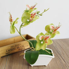Household Gift Garden Moth Orchid Plastic Simulation Flower Artificial Flower Fake Plant Fashion Handmade Home Decor DIY(China)