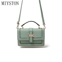 2019 Fashion Crossbody Bags For Women Panelled Rivet Mini Leather Shoulder Messenger Bag Lady Tote Travel Purses Handbags new 2017 brand design women panelled trapeze bag wings tote split leather handbags for female lady messenger bags an324