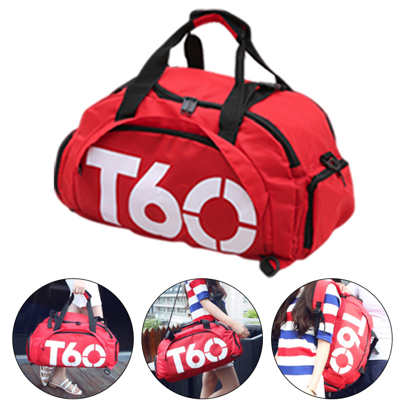 Brand New Men Sport Gym Bag Women Fitness Waterproof Outdoor Separate Space For Shoes Pouch Rucksack Hide Backpack T60