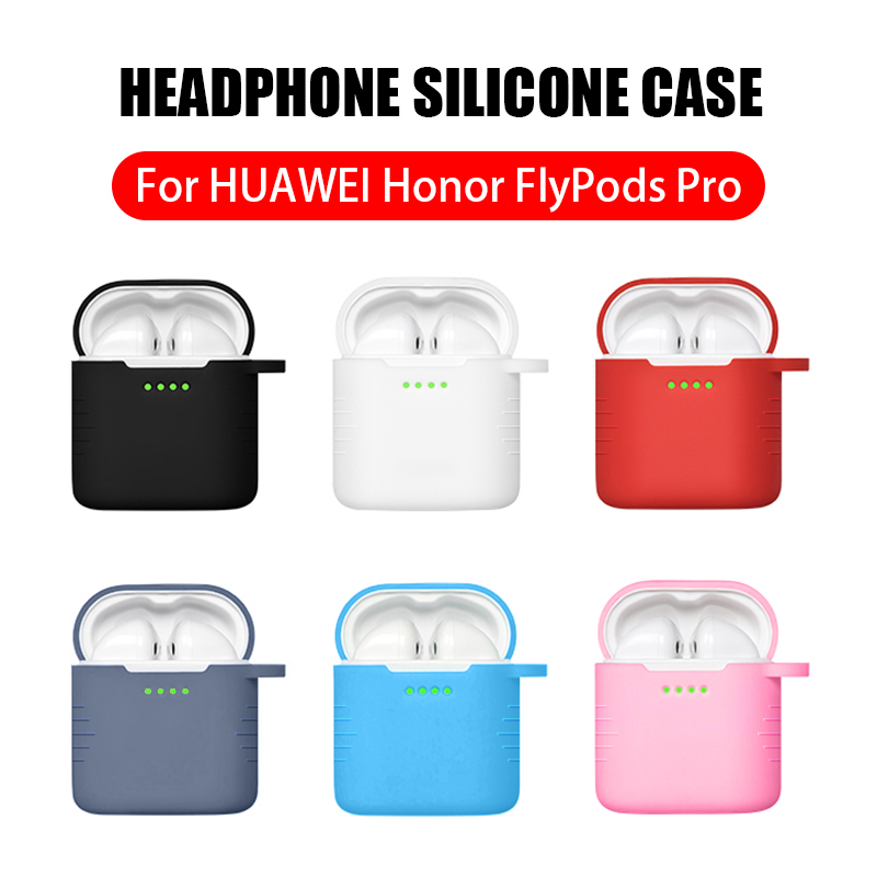 Image 2 - Hanging Ring Carry Cover For Huawei Honor FlyPods Pro Soft Silicone Case on Fly Pods Pro Earphone Charging Dock Protective Skin-in Earphone Accessories from Consumer Electronics
