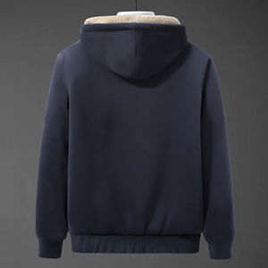 Image 3 - 2019 Winter New Soft Velvet Mens Hooded Fleece Warm Jackets Thicken Casual Thermal Coat Big Size 4XL 5XL