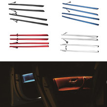 Cuatro para Panel Interior de puertas del coche LED molduras decorativas con luces 2 colores Tuning para BMW Serie 3 F30 2012-2018 de Voiture de