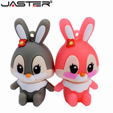 JASTER cartoon kaninchen usb-stick 4GB 8GB 16GB 32GB 64GB usb Speicher karte usb flash memory stick daumen drive disk(China)