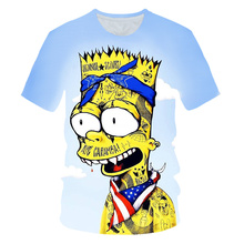 Newest clothing The Simpsons printed 3d Kid t-shirt casual Harajuku Cartoon Funny tshirt Christmas presents for the Children