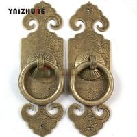 2 piezas 100mm chino antiguo CopperDoor armario manija arco chino