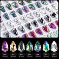7 цветов аксессуары для ногтей стеклянные стразы для дизайна ногтей Форма щита для украшения ногтей 10 шт