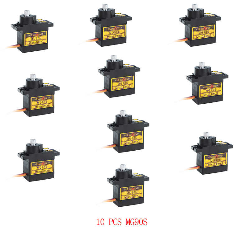 2//4//10pcs Metal Gear RC Micro Servo MG90S for Trex 450 RC Robot Helicopter