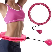 24 Section Hula Massage Adjustable Sport Hoops Abdominal Fitness HoopThin Waist Exercise Detachable Training Weight Loss