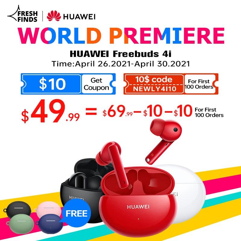 [Мировая премьера] глобальная версия Huawei FreeBuds 4i 4 i беспроводные наушники активное подавление шума вызова снижение Bluetooth 5,2 наушники