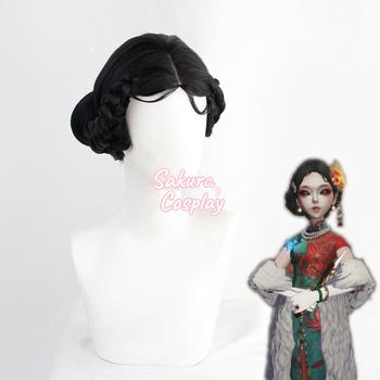 Gra Identity V Lady trzynaście Cosplay czarne warkocze żaroodporne włosy syntetyczne Halloween Carnival Party do odgrywania ról + czapka z peruką tanie i dobre opinie CN (pochodzenie) Lady Thirteen Unisex Dla osób dorosłych High Temperature Fiber