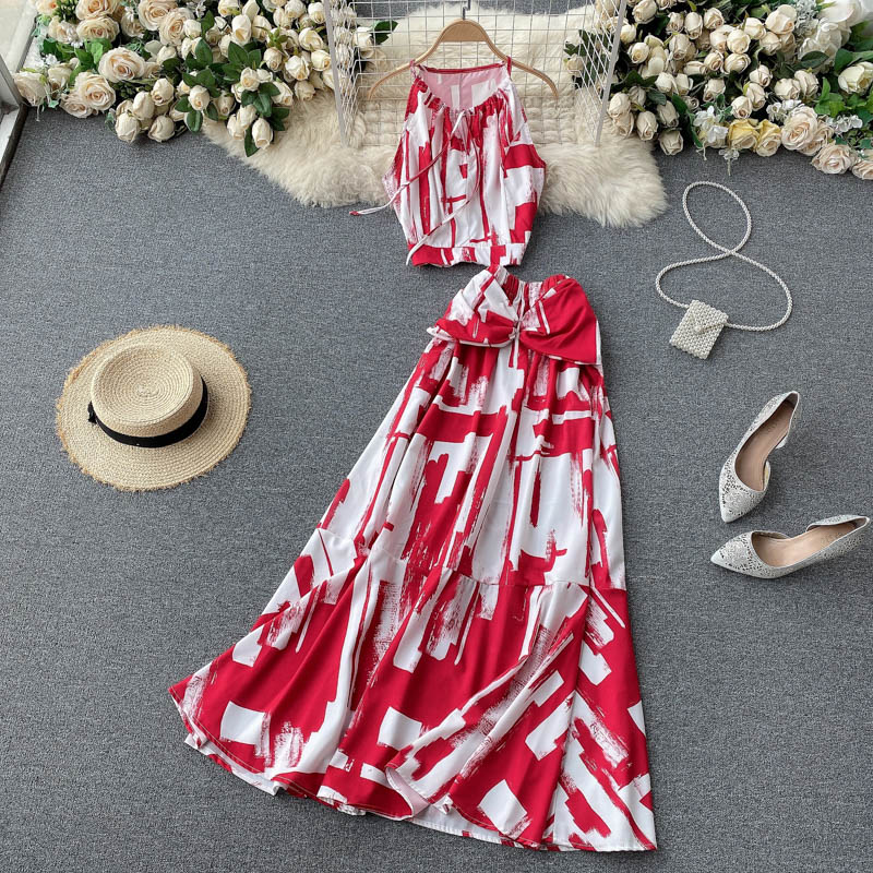 Two Piece Sets Woman Long Maxi Skirt 4