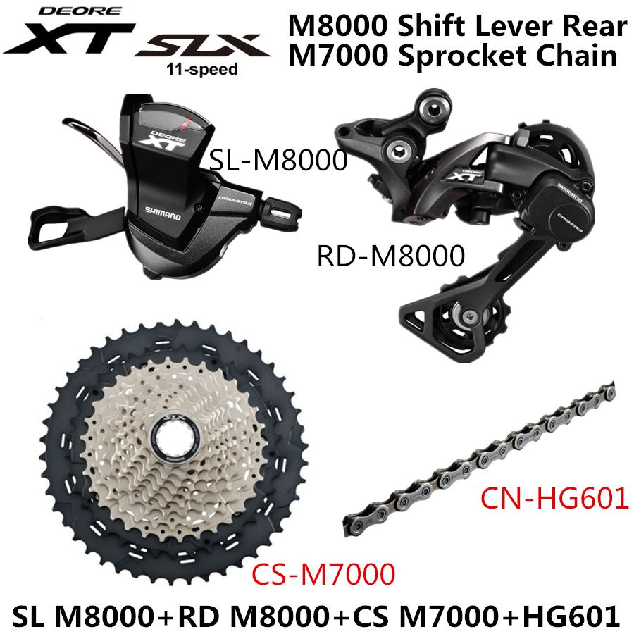 2018 Shimano XT M8000 1x11Speed MTB Mountain Bike Group set Shifter,Cassette 46T