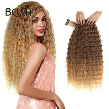 Bella Weave Bundles 28-32 inch Super Long Synthetic Bundles Hair Extensions Ombre Blonde Brown Black 28 30 32 inch Bundles Hair(China)